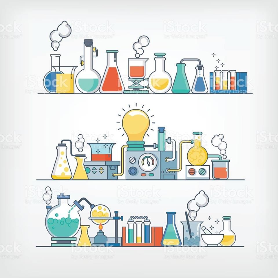 化学実験のイラスト