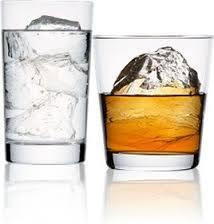 ウイスキーのロックとチェイサー