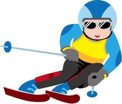 スキー競技をする選手のイラスト