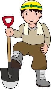土木工事の男性作業員のイラスト