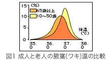成人と老人の体温比較