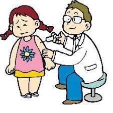 予防接種を受ける女の子