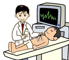 心電図を測定しているイラスト