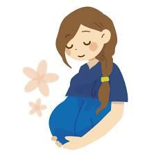 しあわせそうな妊婦のイラスト
